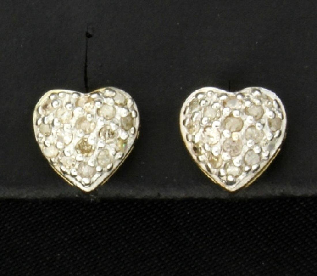 1/3 ct TW Diamond Heart Stud Earrings