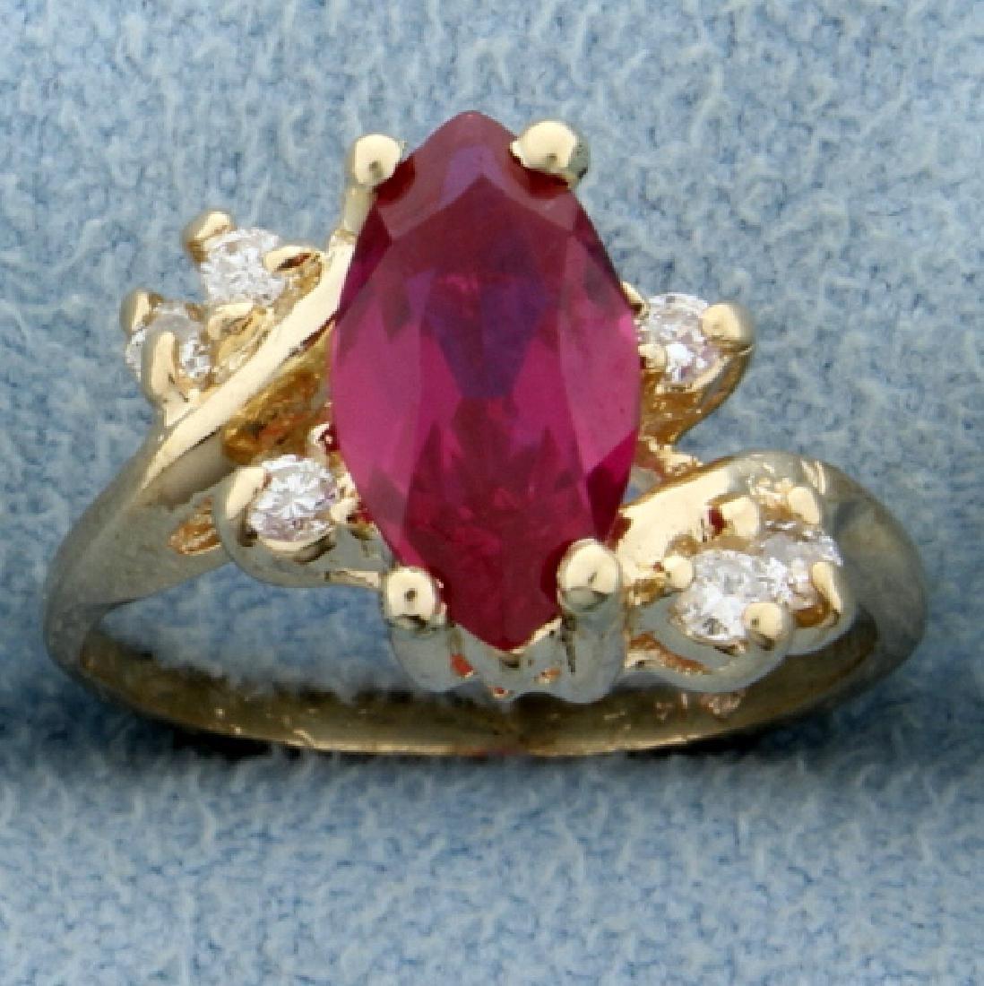 Ruby & Diamond Pinky Ring