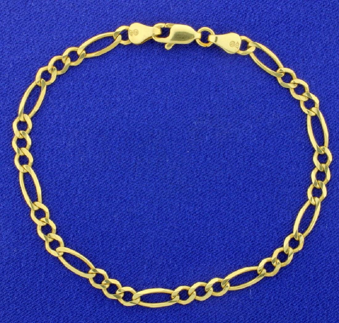 8 Inch Figaro Bracelet