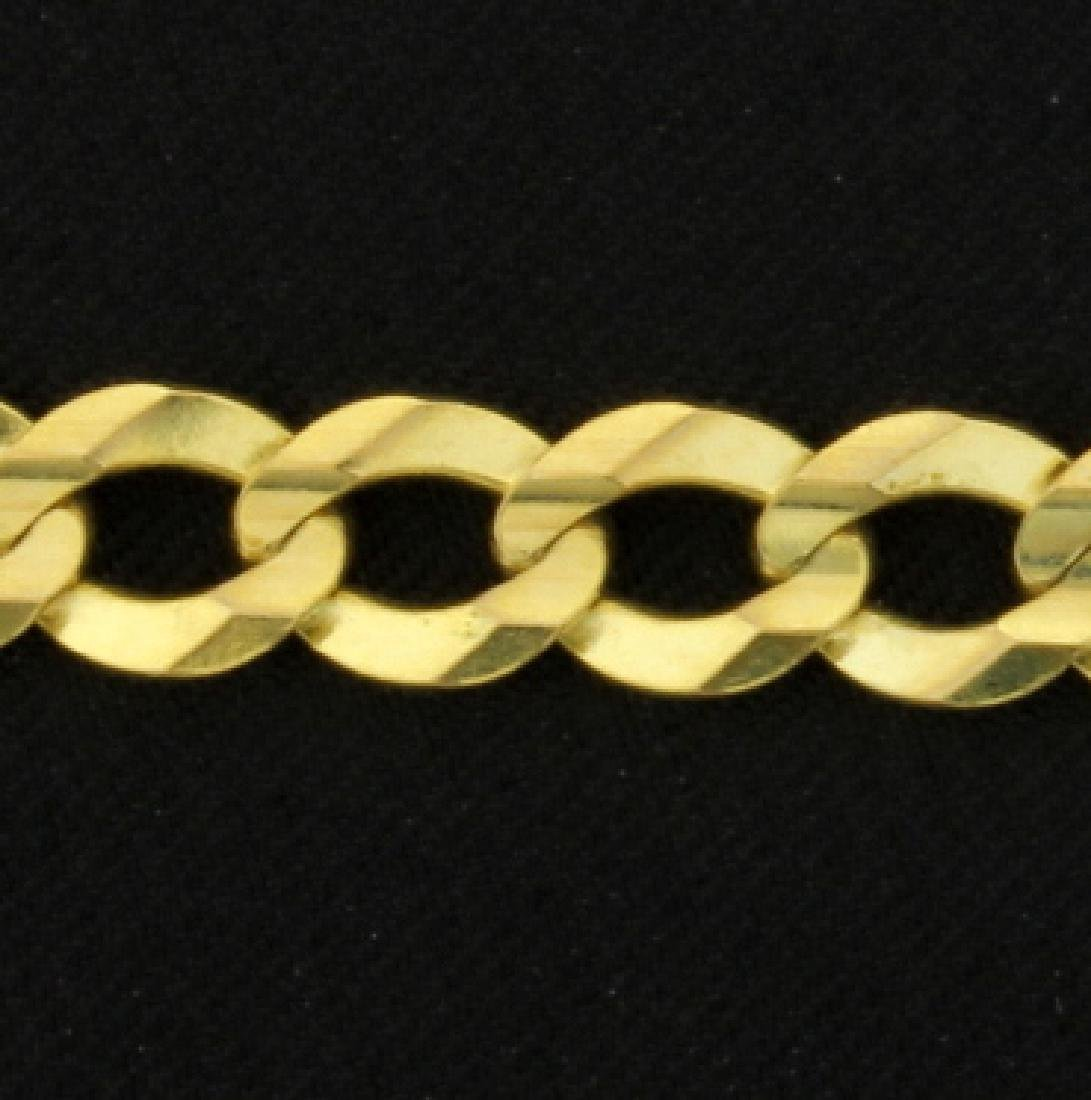 Italian Made 24 Inch Cuban Link Chain - 2