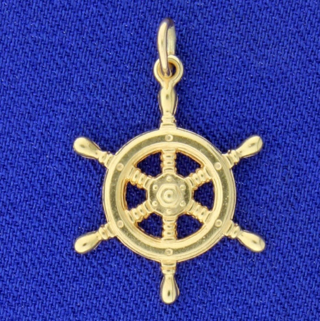 Ship Wheel Charm
