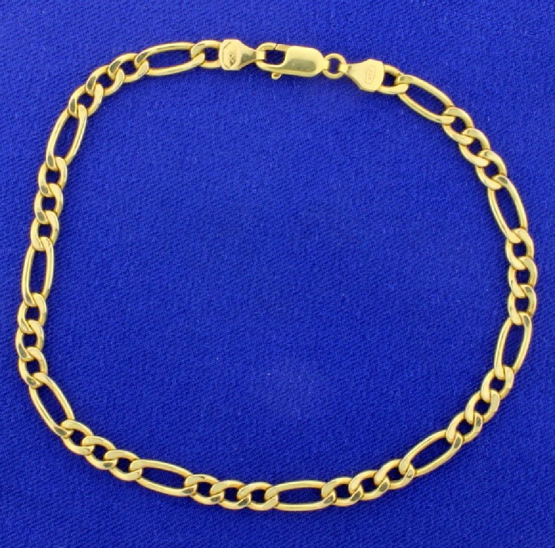 9 1/4 Inch Figaro Bracelet