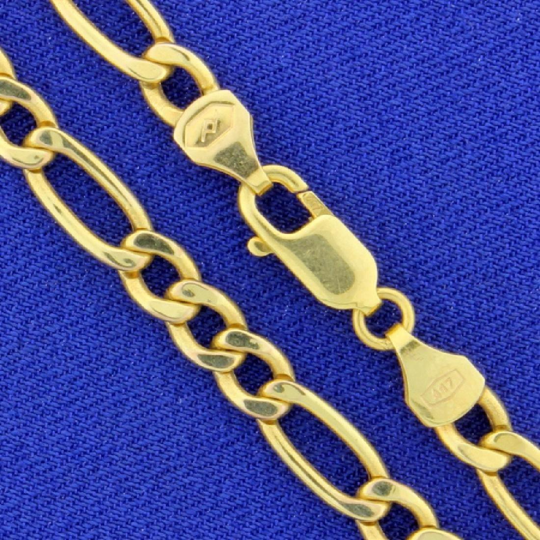 9 1/4 Inch Figaro Bracelet - 2