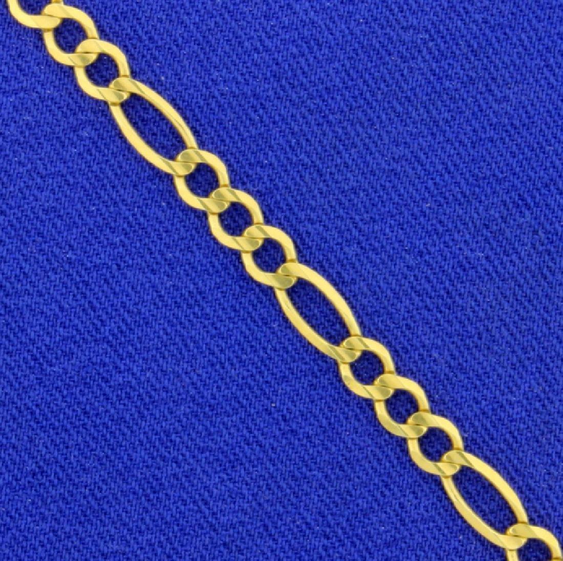 8 Inch Figaro Bracelet - 2