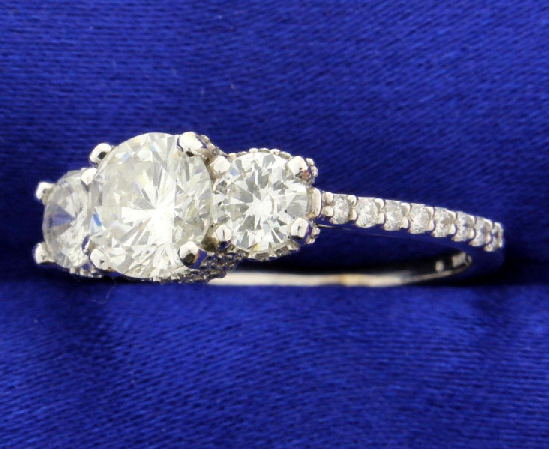 2 Carat TW Three Stone Diamond Ring - 2