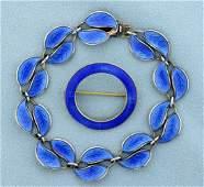 David Andersen Bracelet and Askel Homensen Matching Pin