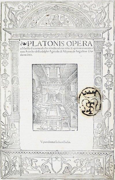 PLATO. Platonis Opera a Marsilio Ficino traducta