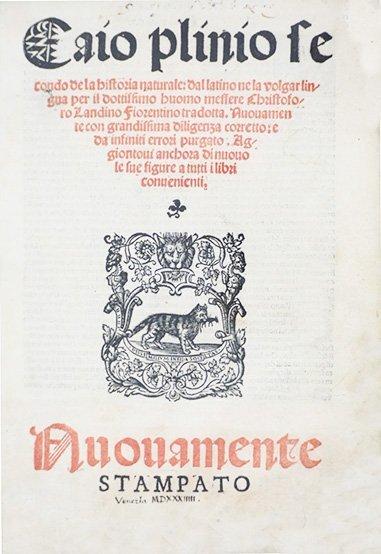 PLINIUS SECUNDUS. de la historia naturale.