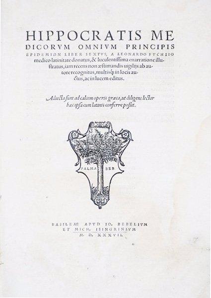 HIPPOCRATES - FUCHS. Hippocratis medicorum