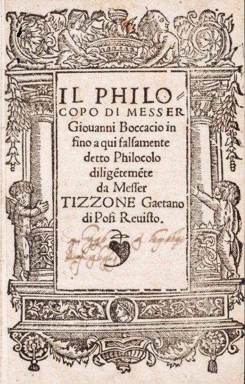 BOCCACCIO . Il Philocopo.