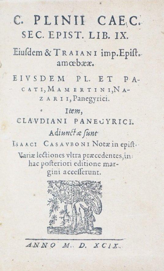PLINIUS SECUNDUS. C. Plinii Caec. Sec. Epist. - 2