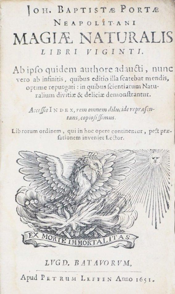 PORTA, Giovanni Battista della - Magiae Naturalis
