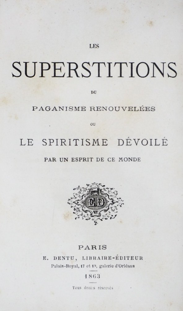 [LOT OF 3 WORKS ABOUT SUPERSTITION AND PAGANISM] - 2