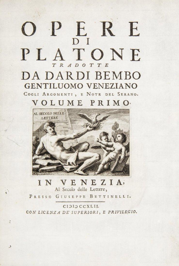 PLATO. Opere di Platone tradotte da Dardi Bembo