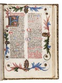 Manuscript on vellum. BREVIARIUM FLORENTINUM XV century