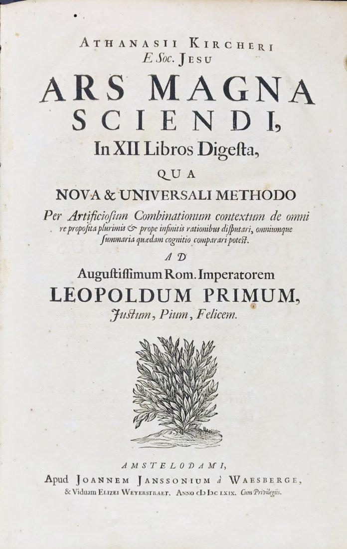 KIRCHER, Athanasius. Ars Magna Sciendi