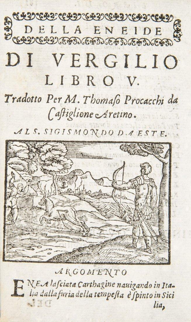 Virgil Works of 16th century. VIRGILIO. L'Opere...