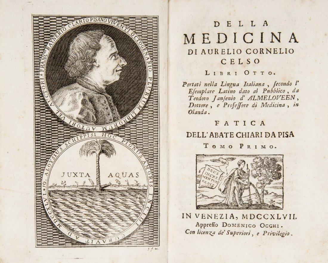 CHIARI DA PISA. Della medicina di Aurelio C. Celso