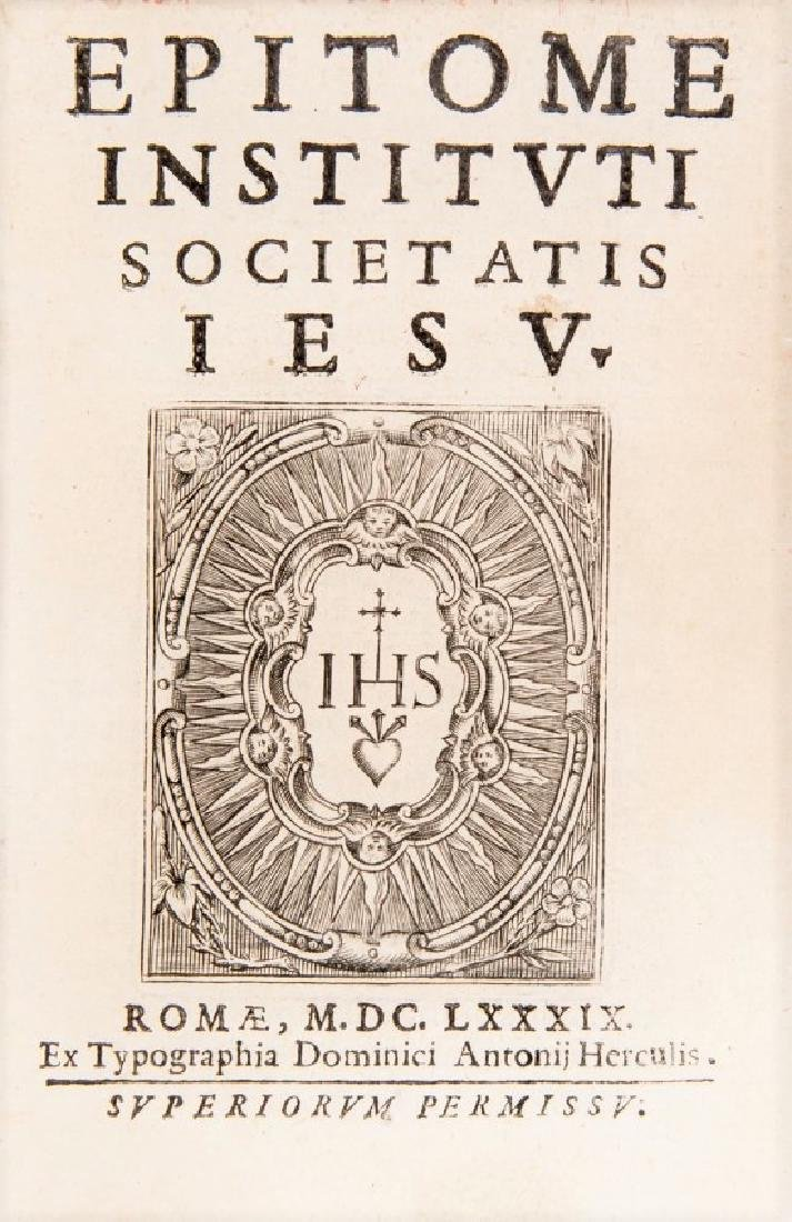 Jesuit Order. Epitome Instituti Societatis Iesu.