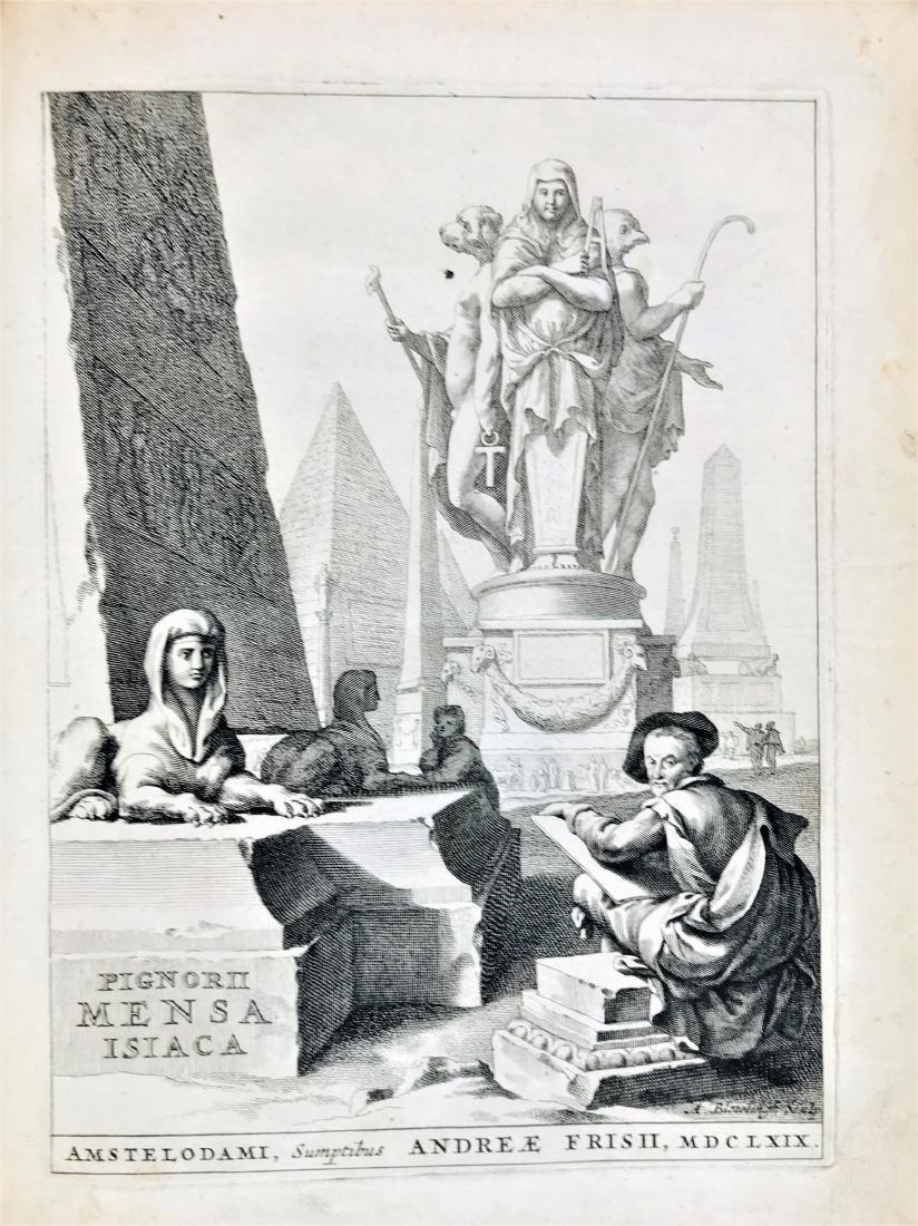 EGYPT. Lorenzo Pignoria. Mensa Isiaca.