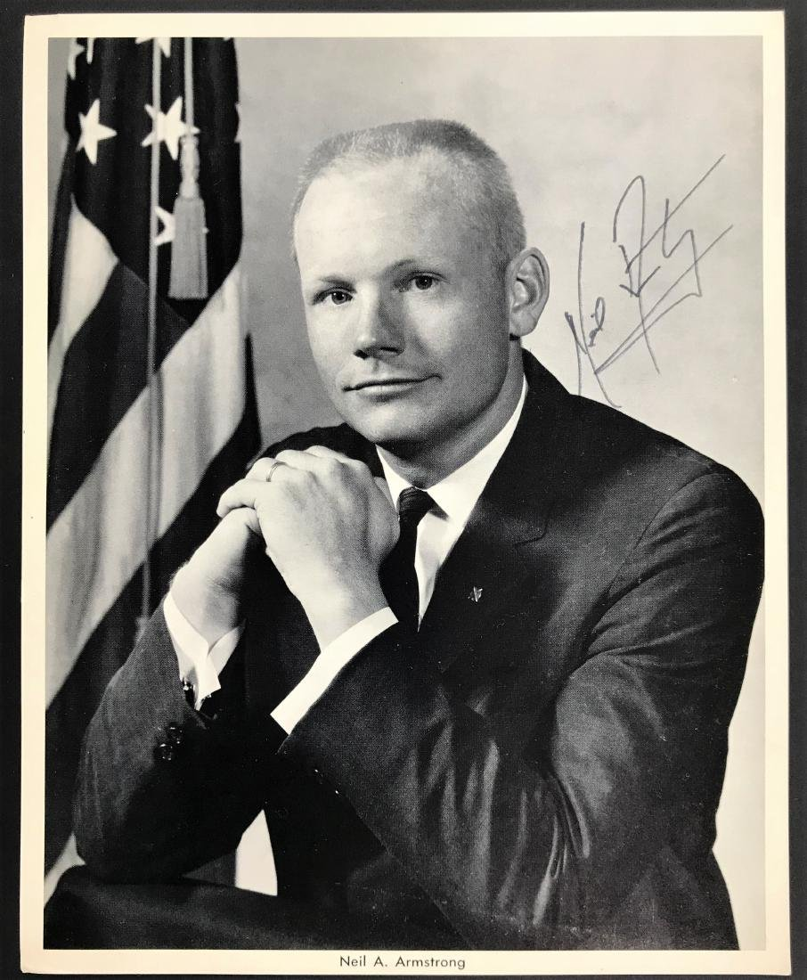 Neil Armstrong. Signed Inscribed Photo - Official NASA.