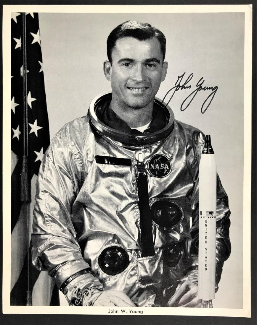 John Young. Signed Inscribed Photo- Official NASA.