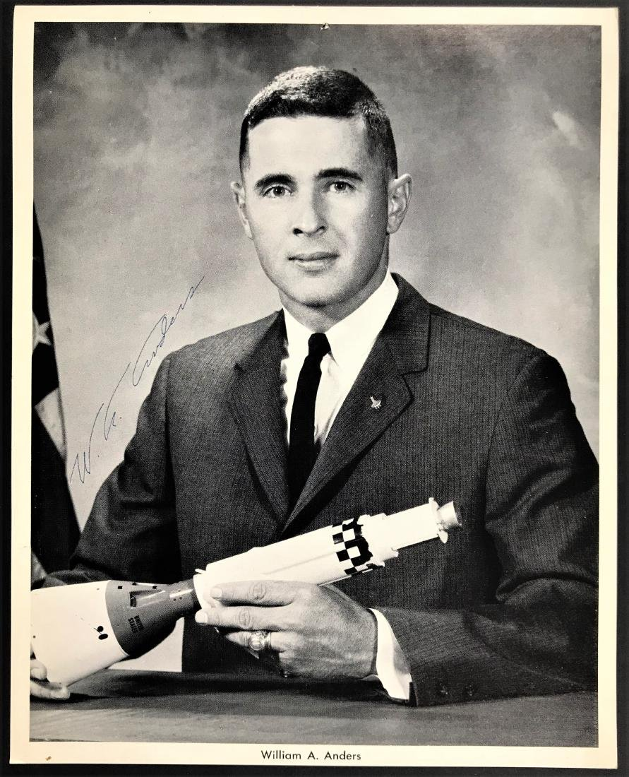 William Anders. Signed Inscribed Photo - Official NASA