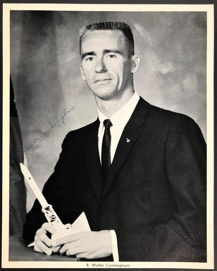 Walter  Cunningham. Signed Inscribed Photo.