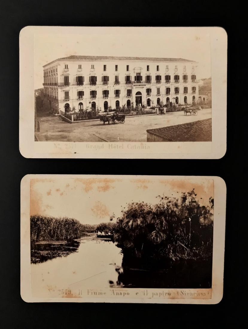 Albumina. Georges Sommer. Catania e Siracusa, due foto.