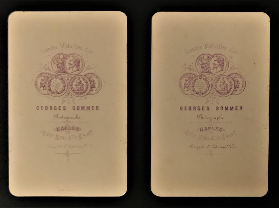 Albumina. Georges Sommer. Catania e Siracusa, due foto. - 2