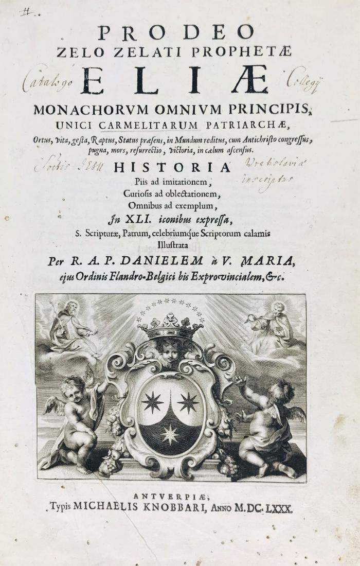 Daniel a Vergine Maria. Pro Deo zelo zelati.. - 2