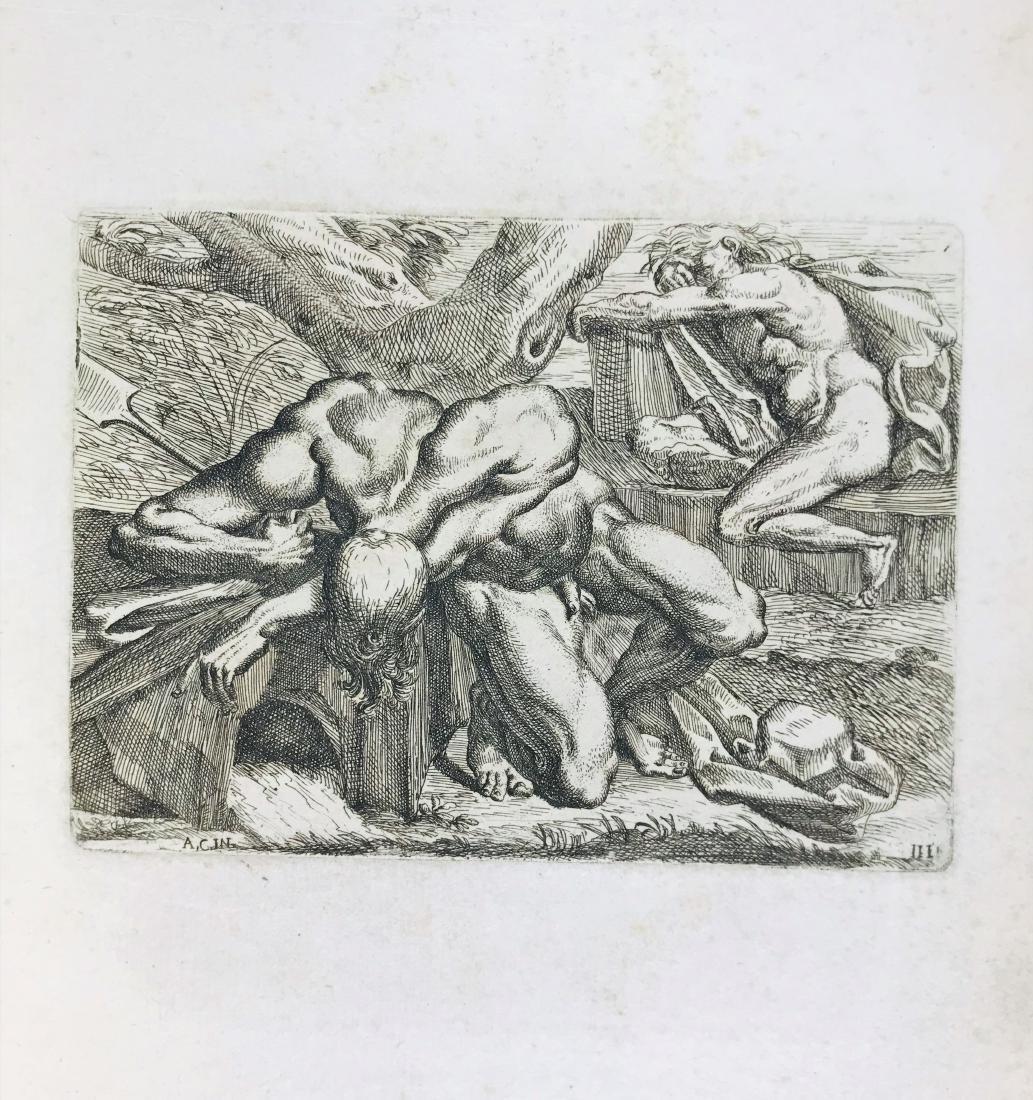 CARRACCI-BELLAVIA. Album of engravings