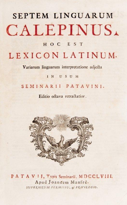 Linguistic. Ambrogio Calepino. Septem linguarum.