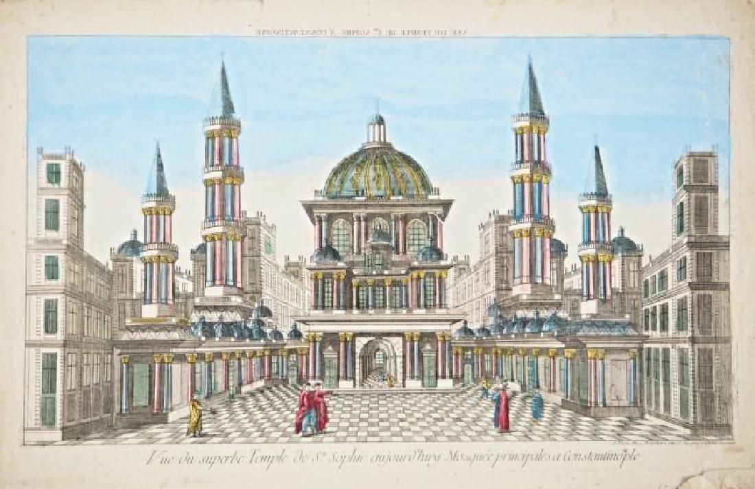ISTAMBUL.  Veduta ottica della basilica di Santa Sofia.