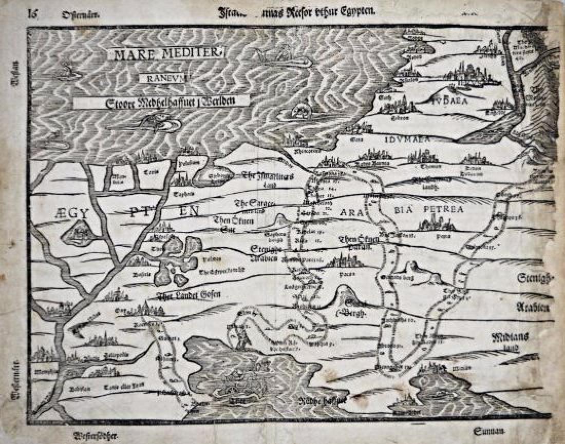 Egitto and Arabia. Map on Egypt and Arabia.