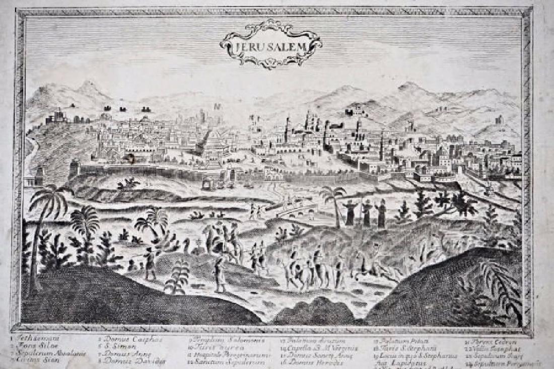 Jerusalem. Anonimo.View of Jerusalem.