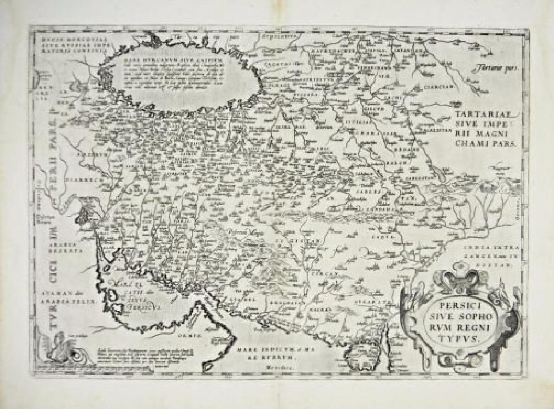 Persia. Ortelius. Persici sive sophorum regni typus.