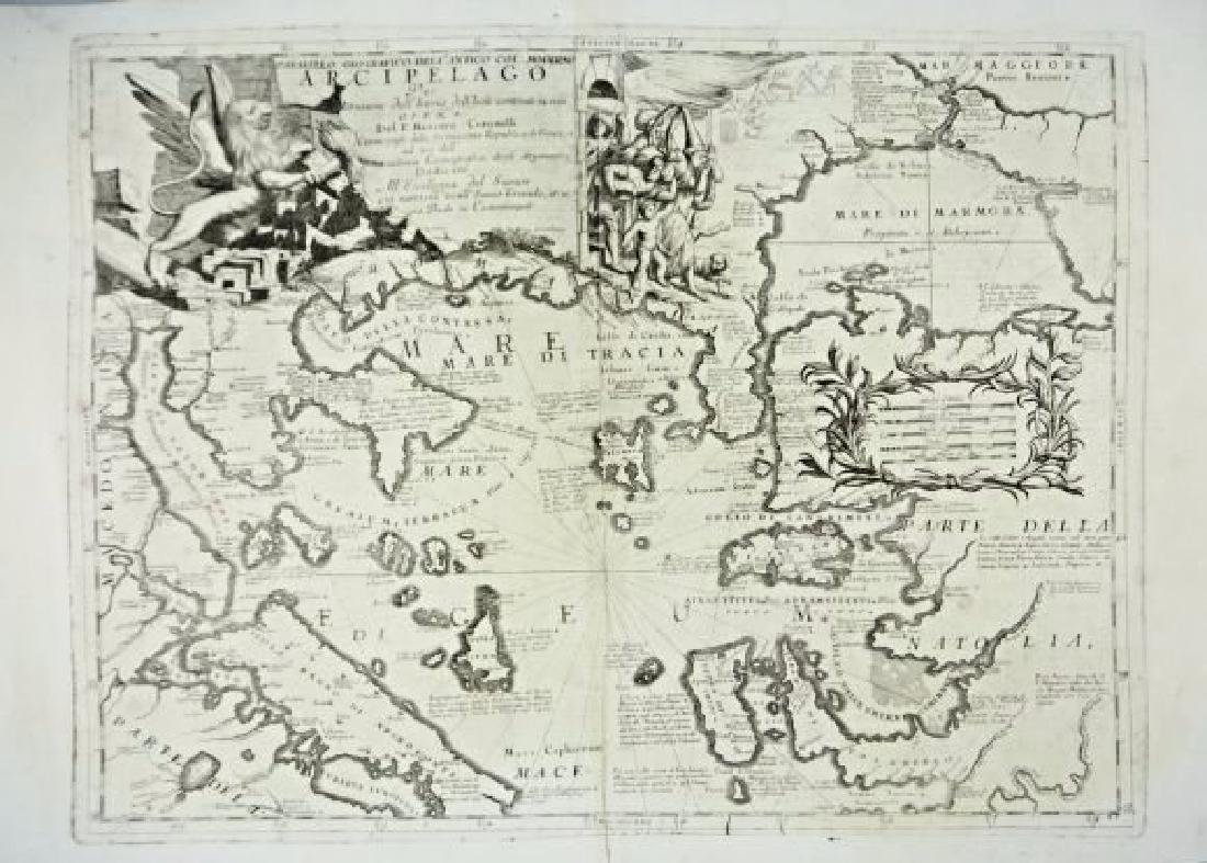 Greece. Coronelli. Arcipelago greco.