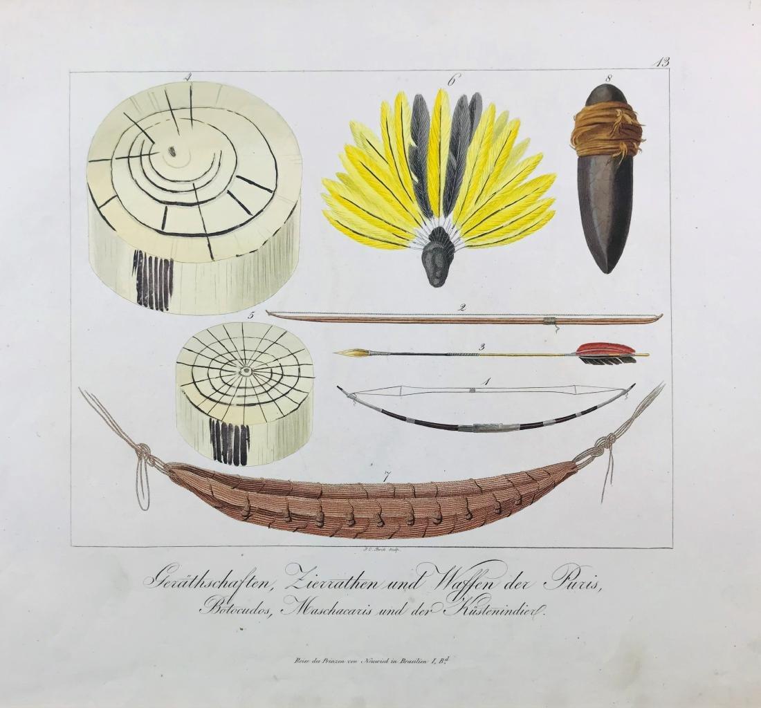 Brazil. Lot of 8 ethnographic prints. - 7