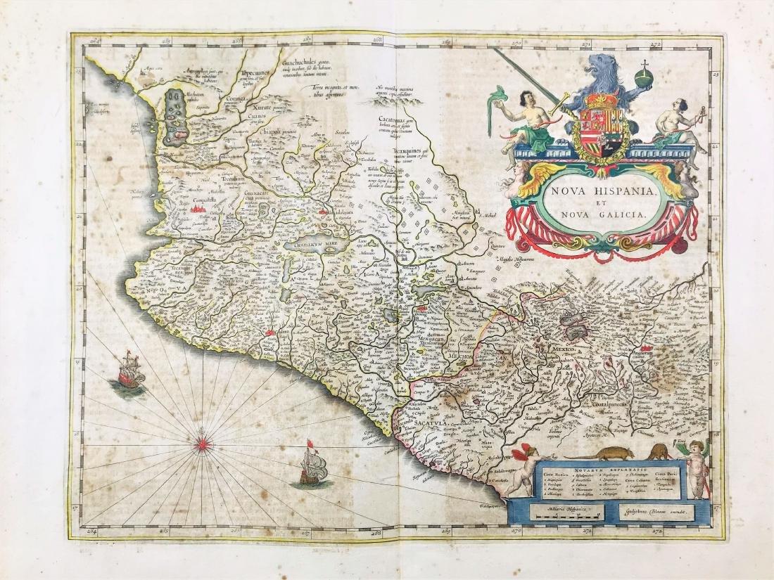 Mexico. Willem Blaeu. Nova Hispania et nova Calicia.