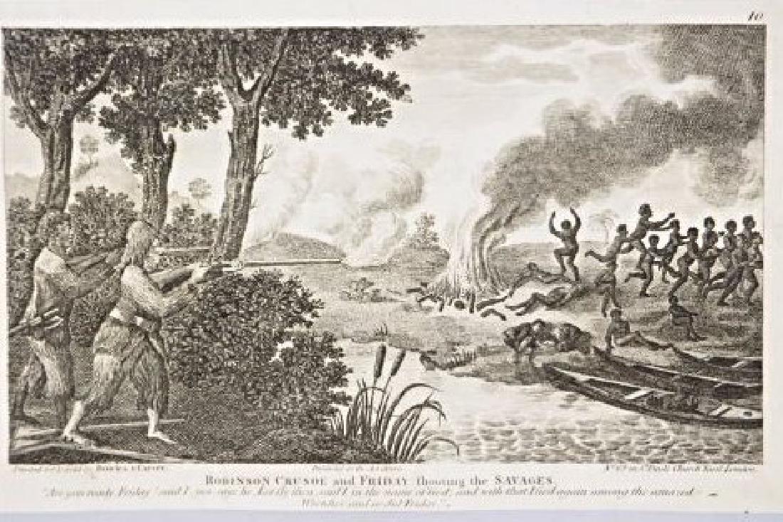 Bowles & Carver. 10 engravings on Robinson Crusoe. - 2