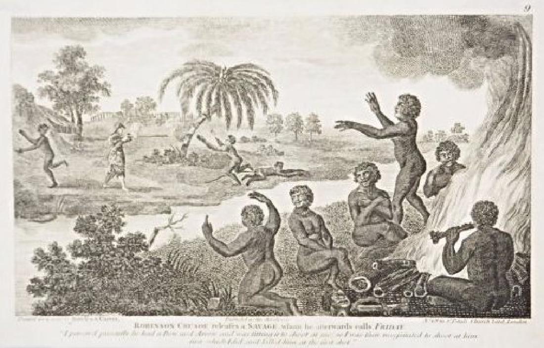 Bowles & Carver. 10 engravings on Robinson Crusoe. - 3