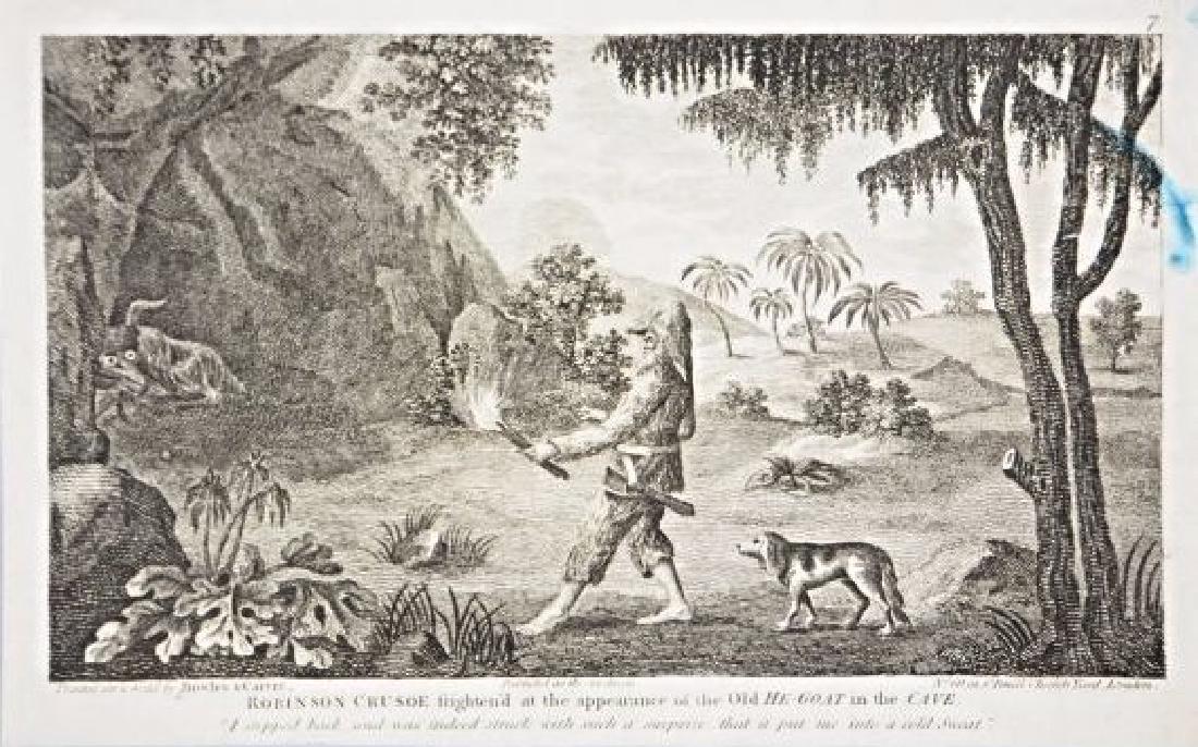Bowles & Carver. 10 engravings on Robinson Crusoe. - 4