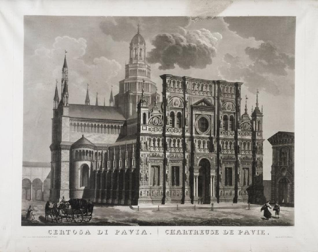 Citterio. Veduta della Certosa di Pavia.