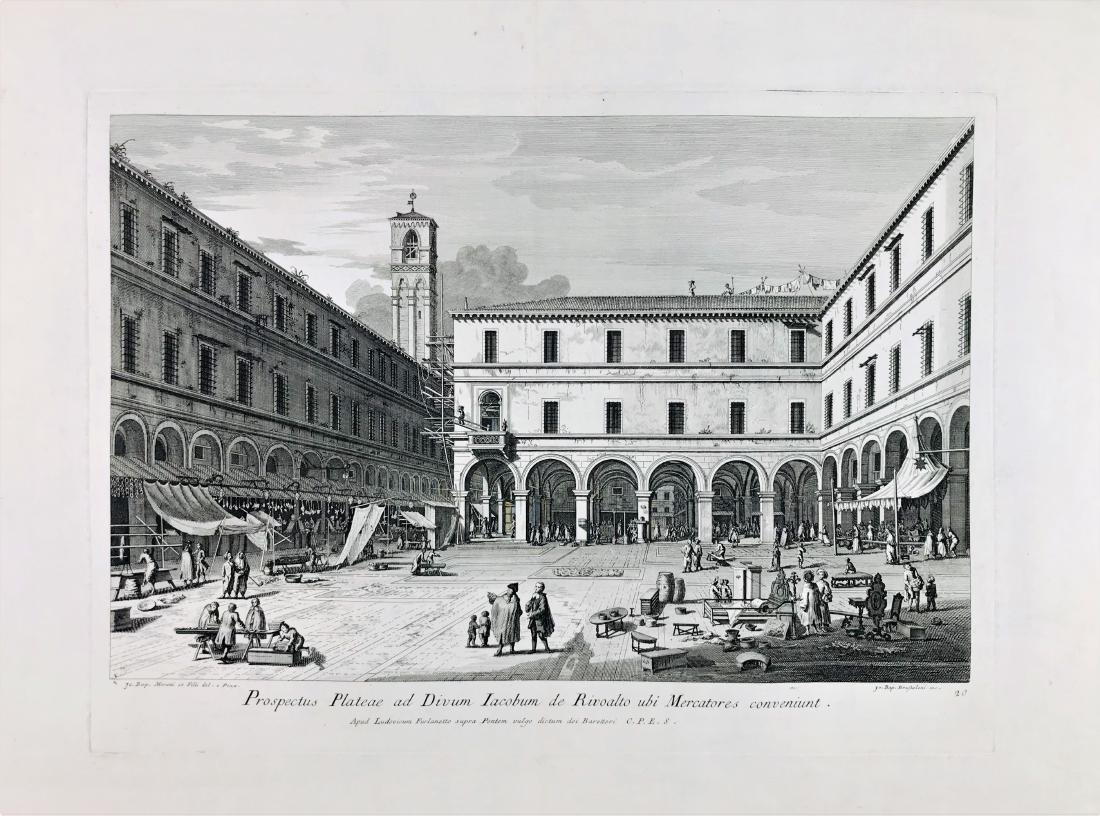 BRUSTOLON.  Prospectus Plateae ad Divum Iacobum...