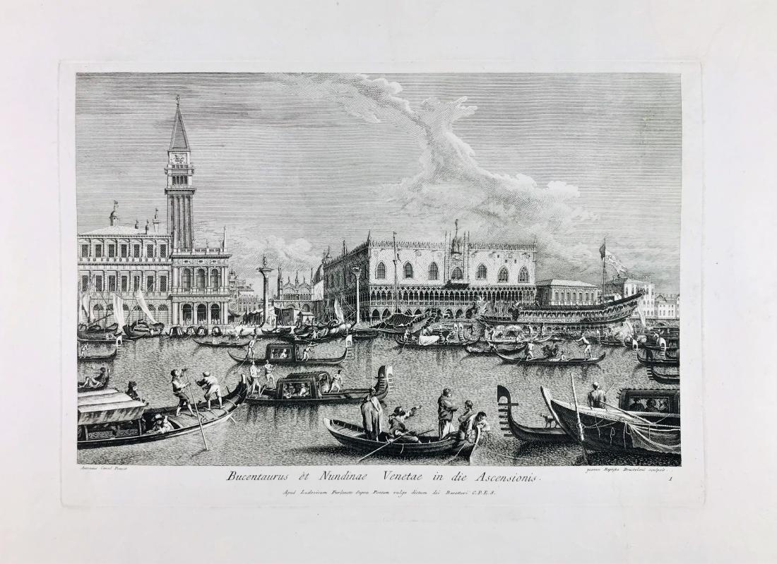 BRUSTOLON.  Bucentarus et Nundinae Venetae...
