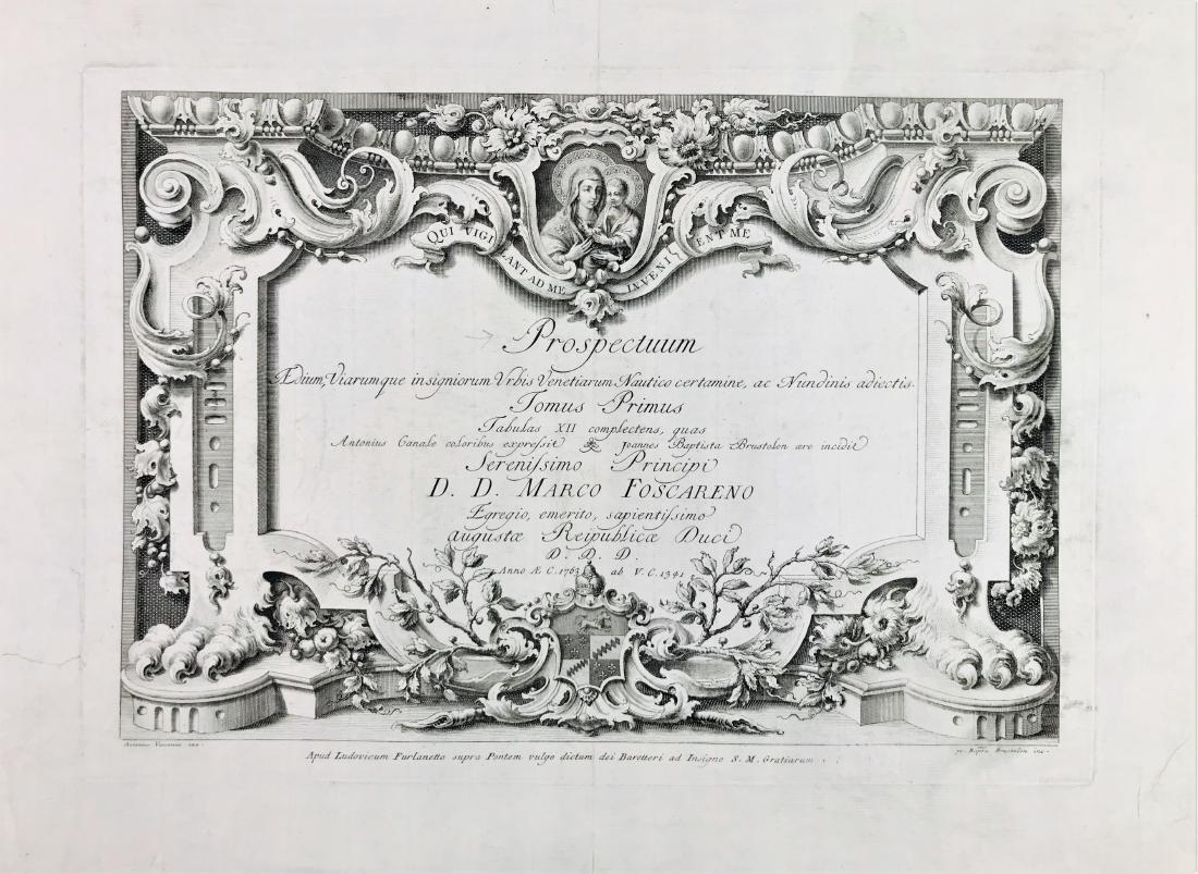 BRUSTOLON.  Prospectum Aedium, Viarumque insignorum...