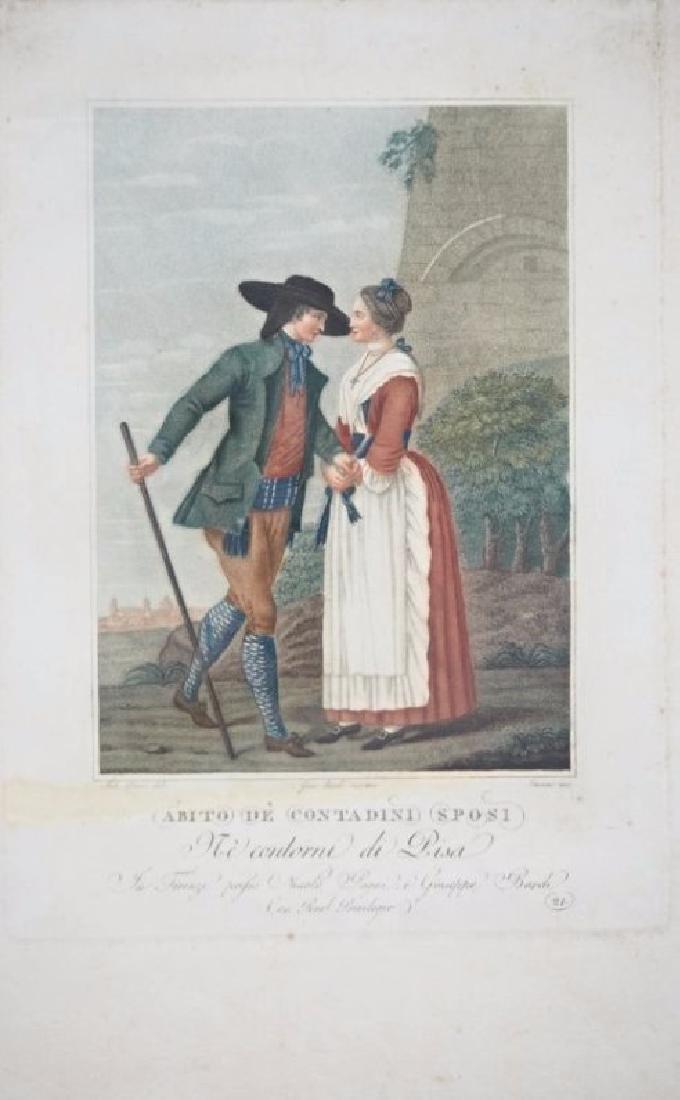 Lasinio. 3 Tuscany's Costumes prints