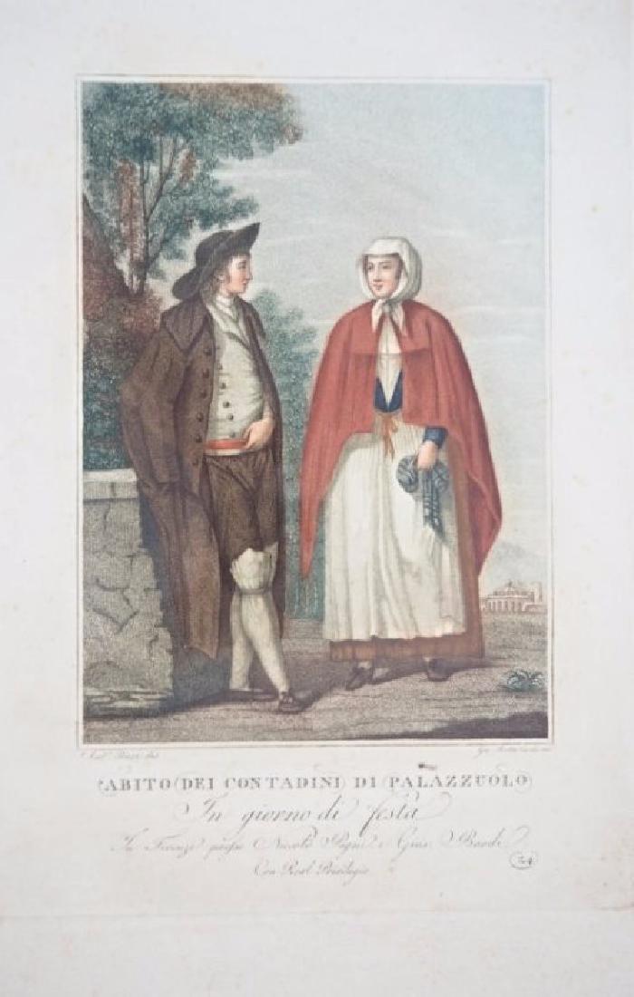 Lasinio. 3 Tuscany's Costumes prints - 2