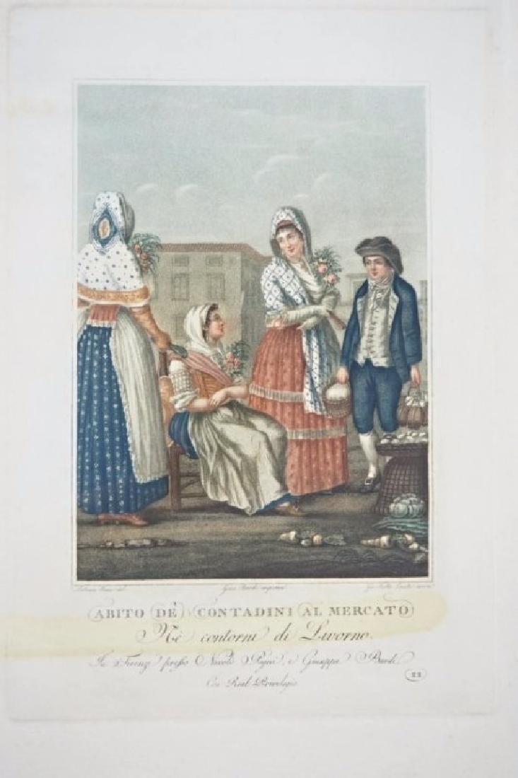 Lasinio. 3 Tuscany's Costumes prints - 3